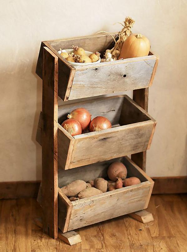 Thùng chứa rau củ siêu dễ thương và tiện dụng cho nhà bếp